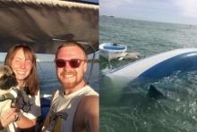 คู่รักเก็บออม-ขายบ้านไปซื้อเรือเที่ยวสู่โลกกว้าง แต่ภายใน 20 นาทีสิ้นเนื้อประดาตัว
