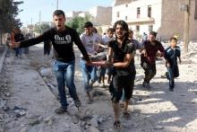 สลด!! สหรัฐ-รัสเซีย บอมบ์พลเรือนซีเรียดับ 77 ศพ