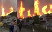 ระทึก!! ท่อส่งแก๊สระเบิด! ทั้งเมืองหนีตายอลหม่าน! คาดจากฝนตกหนัก ดินถล่ม