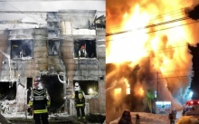 สลด 11 ชีวิตสังเวยไฟโหมไหม้บ้านพักคนชราฐานะยากจน (มีคลิป)