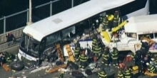 เละเลย!! รถบัสประสานงา ตาย 4 คน
