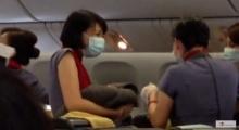 คุณแม่เจ็บท้องกลางเคลื่องบิน แอร์ฯ-ผู้โดยสาร  พยาบาลจำเป็น ช่วยทำคลอด