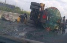 ช็อก!รถขนน้ำมันตกถนนชาวบ้านแห่เก็บน้ำมัน สุดท้ายรถระเบิดดับ176ศพ