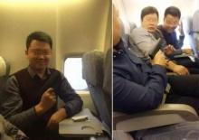 ชาวเน็ตเรียกร้องให้ลงโทษ แก๊งชายจีนโพสต์ภาพคู่ปืนปลอมบนเครื่องบิน