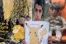เศร้า!เด็กซีเรียถือภาพโปเกมอน วอนชาวโลกหันมาสนใจพวกเขาเหมือนเล่นเกม