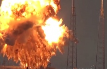 ชมวินาที'จรวดฟอลคอน-9′ ระเบิดตูม